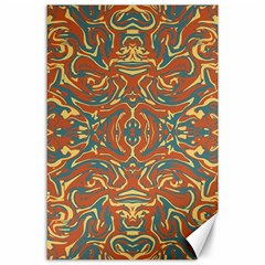 Multicolored Abstract Ornate Pattern Canvas 24  X 36