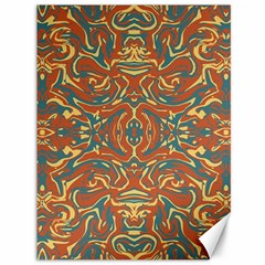Multicolored Abstract Ornate Pattern Canvas 36  X 48