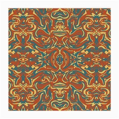 Multicolored Abstract Ornate Pattern Medium Glasses Cloth (2 Side)