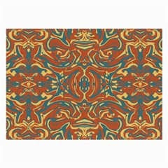 Multicolored Abstract Ornate Pattern Large Glasses Cloth (2 Side)