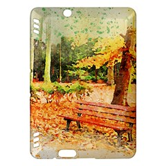 Tree Park Bench Art Abstract Kindle Fire Hdx Hardshell Case