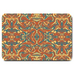 Multicolored Abstract Ornate Pattern Large Doormat