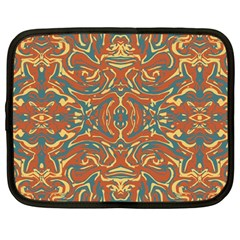 Multicolored Abstract Ornate Pattern Netbook Case (large)