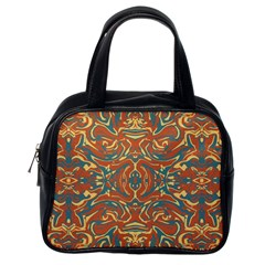 Multicolored Abstract Ornate Pattern Classic Handbags (one Side)