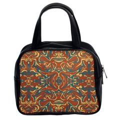 Multicolored Abstract Ornate Pattern Classic Handbags (2 Sides)