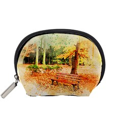 Tree Park Bench Art Abstract Accessory Pouches (small)