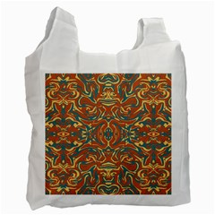 Multicolored Abstract Ornate Pattern Recycle Bag (two Side)