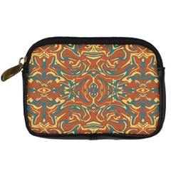 Multicolored Abstract Ornate Pattern Digital Camera Cases