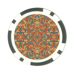 Multicolored Abstract Ornate Pattern Poker Chip Card Guard (10 Pack)