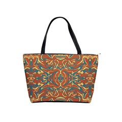 Multicolored Abstract Ornate Pattern Shoulder Handbags