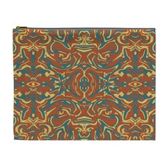Multicolored Abstract Ornate Pattern Cosmetic Bag (xl)