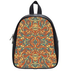 Multicolored Abstract Ornate Pattern School Bag (small)