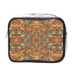 Multicolored Abstract Ornate Pattern Mini Toiletries Bags