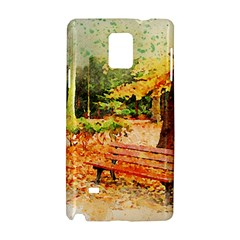 Tree Park Bench Art Abstract Samsung Galaxy Note 4 Hardshell Case