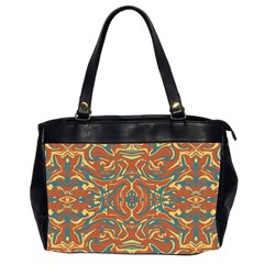 Multicolored Abstract Ornate Pattern Office Handbags (2 Sides)