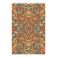Multicolored Abstract Ornate Pattern Shower Curtain 48  X 72  (small)