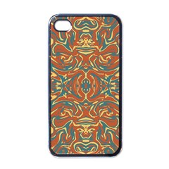 Multicolored Abstract Ornate Pattern Apple Iphone 4 Case (black)