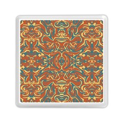Multicolored Abstract Ornate Pattern Memory Card Reader (square)