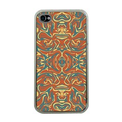 Multicolored Abstract Ornate Pattern Apple Iphone 4 Case (clear)