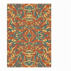 Multicolored Abstract Ornate Pattern Small Garden Flag (two Sides)