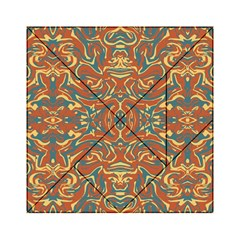 Multicolored Abstract Ornate Pattern Acrylic Tangram Puzzle (6  X 6 )