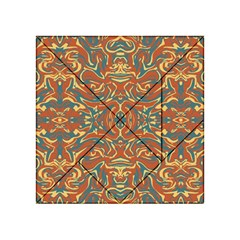 Multicolored Abstract Ornate Pattern Acrylic Tangram Puzzle (4  X 4 )