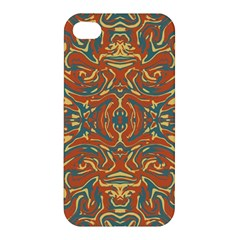 Multicolored Abstract Ornate Pattern Apple Iphone 4/4s Premium Hardshell Case