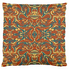 Multicolored Abstract Ornate Pattern Large Cushion Case (one Side)