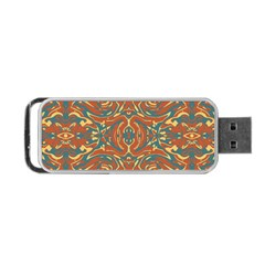 Multicolored Abstract Ornate Pattern Portable Usb Flash (one Side)