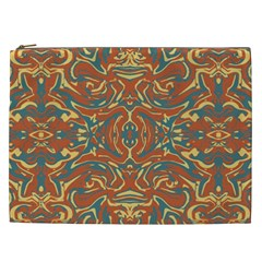 Multicolored Abstract Ornate Pattern Cosmetic Bag (xxl)