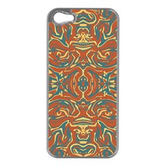 Multicolored Abstract Ornate Pattern Apple Iphone 5 Case (silver)