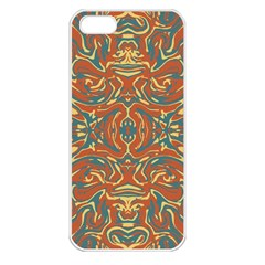 Multicolored Abstract Ornate Pattern Apple Iphone 5 Seamless Case (white)