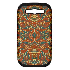 Multicolored Abstract Ornate Pattern Samsung Galaxy S Iii Hardshell Case (pc+silicone)