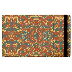 Multicolored Abstract Ornate Pattern Apple Ipad 2 Flip Case