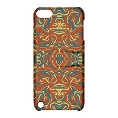 Multicolored Abstract Ornate Pattern Apple Ipod Touch 5 Hardshell Case With Stand