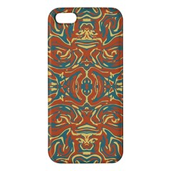 Multicolored Abstract Ornate Pattern Apple Iphone 5 Premium Hardshell Case