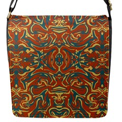 Multicolored Abstract Ornate Pattern Flap Messenger Bag (s)
