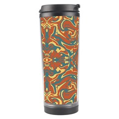 Multicolored Abstract Ornate Pattern Travel Tumbler