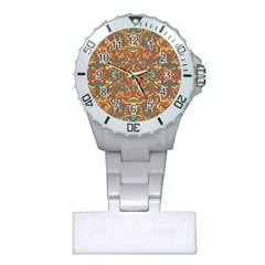Multicolored Abstract Ornate Pattern Plastic Nurses Watch