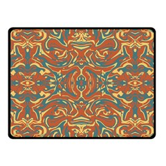Multicolored Abstract Ornate Pattern Double Sided Fleece Blanket (small)