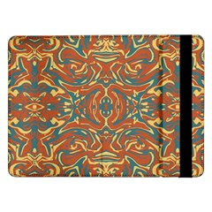 Multicolored Abstract Ornate Pattern Samsung Galaxy Tab Pro 12 2  Flip Case