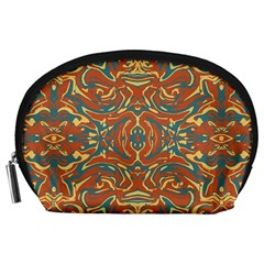 Multicolored Abstract Ornate Pattern Accessory Pouches (large)