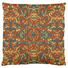 Multicolored Abstract Ornate Pattern Large Flano Cushion Case (two Sides)