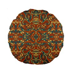 Multicolored Abstract Ornate Pattern Standard 15  Premium Flano Round Cushions