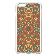 Multicolored Abstract Ornate Pattern Apple Iphone 6 Plus/6s Plus Enamel White Case