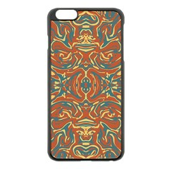 Multicolored Abstract Ornate Pattern Apple Iphone 6 Plus/6s Plus Black Enamel Case