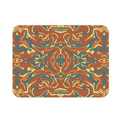 Multicolored Abstract Ornate Pattern Double Sided Flano Blanket (mini)