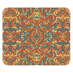 Multicolored Abstract Ornate Pattern Double Sided Flano Blanket (small)