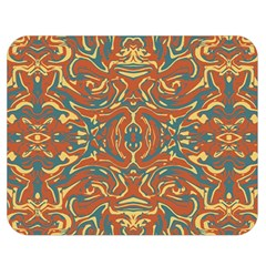 Multicolored Abstract Ornate Pattern Double Sided Flano Blanket (medium)