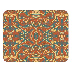 Multicolored Abstract Ornate Pattern Double Sided Flano Blanket (large)